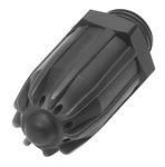 Lärmarme Runddüse, M12x1,25, POM Kunststoff, Düsen-Außen-ø 17 mm