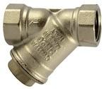 Schmutzfänger, Messing vernickelt, G 1 1/2, DN 40, MW 0,3 mm