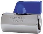 Mini-Kugelhahn, Edelstahl 1.4401, IG/IG, G 1/2, DN 9,2