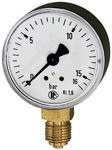 Standardmanometer, Kunststoffgeh., G 1/4 unten, 0-25,0 bar, Ø 63