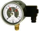 Kontaktmanometer, G 1/2 radial unten, Messber. 0 - 4,0 bar, Ø 100