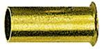 Verstärkungshülse, Rohr-Außen-Ø 12/10 mm, Messing blank