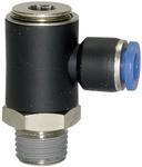 L-Steckverschraubung »Blaue Serie«, drehbar, R 1/4 a., L=24,5mm
