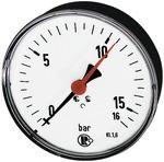 Standardmano., Stahlblech, G 1/4 hinten zentr., 0-1,6 bar, Ø 100