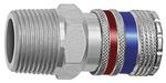 Sicherheitskupplung NW 10, Stahl/Messing verzinkt, R 3/8 AG