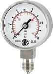 Standardmanometer, CrNi-Stahl, G 1/4 unten, 0 - 1,0 bar, Ø 40
