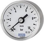 Manometer Ø 40 mm, G 1/8 rückseitig, Messber. 0 - 2,5 bar, V4A
